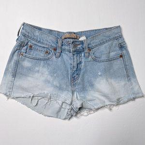 Vintage Cutoff Levis Denim Shorts dip bleach